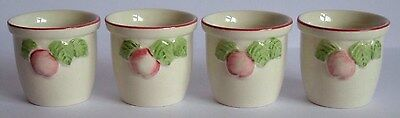 Superb Set Of Four Boots Co Plc Orchard Egg Cups - Nice!