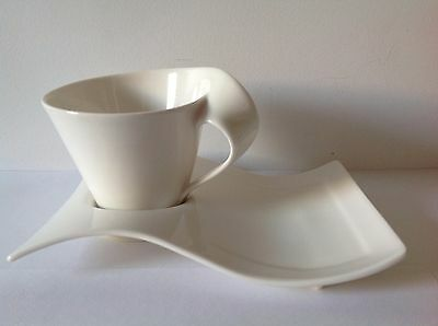 VILLEROY & BOCH New Wave Cup and Snack Plate Set