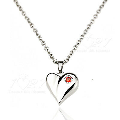Stainless Steel SILVER Pendant & Chain Charm Women's Necklace Fashion AU