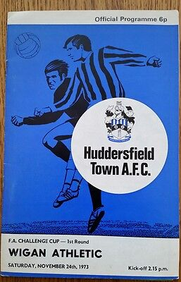 Huddersfield Town v Wigan Athletic FA Cup 1st  1973/1974 Football Programme