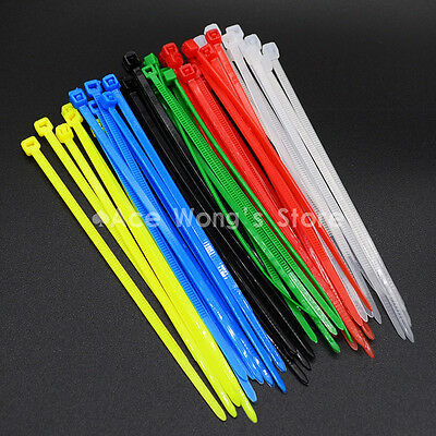 100pcs/LOT 3X100MM Self-Locking Colorful Nylon Wire Cable Zip Ties
