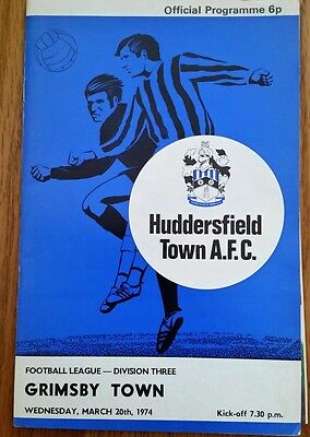 Huddersfield Town v Grimsby Town 1973/1974 Football Programme