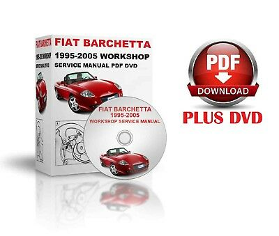 Fiat Barchetta 1995-2005 Workshop Service Manual Pdf Dvd And Download