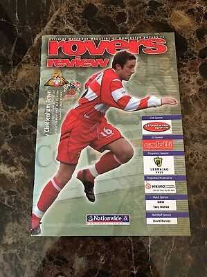Doncaster Rovers vs Cheltenham Town 13/04/2004 Official Programme Division Three