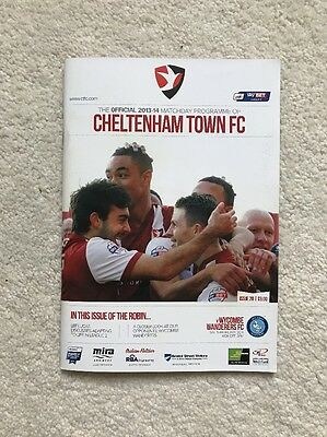 Cheltenham Town vs Wycombe Wanderers 15/02/2014 Official Programme League Two