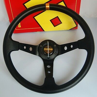 Mo Style Black Deep Dish Steering Wheel 350Mm Fit Omp Nd