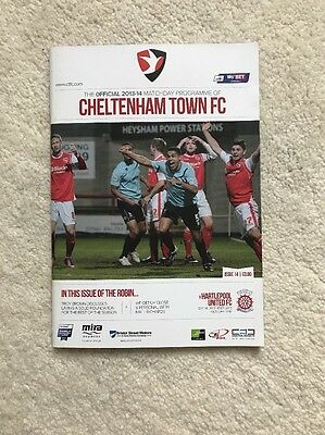 Cheltenham Town vs Hartlepool United 14/12/2013 Official Programme League Two