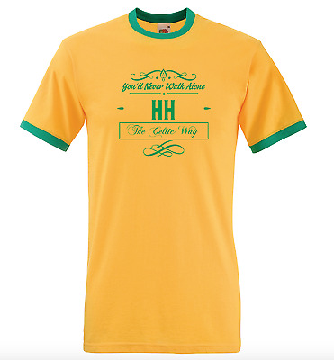 Personalised Football Ringer T-Shirt Pick Your Own Text On Design - Non Uk Teams
