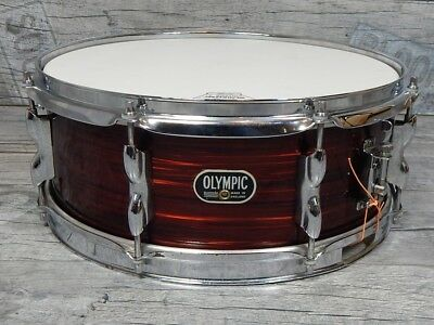 """Premier 60s Olympic 14"""" x 5,5""""  Vintage Snare Snaredrum England Red Silk Pearl"""