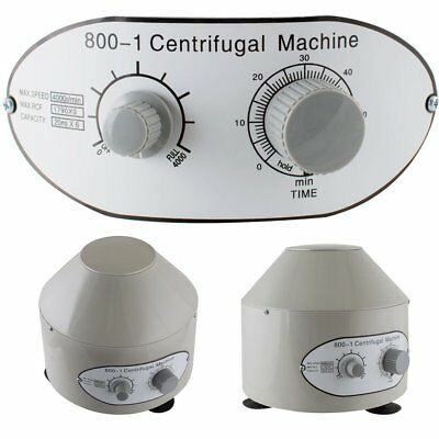 800-1 Electric Centrifuge Lab Medical Practice Timer 4000 rpm 20 ml x 6 110V 40W
