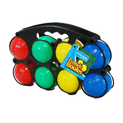 French Boules Garden Game Set Plastic Kids Family Fun Outdoor Playing Carry Case