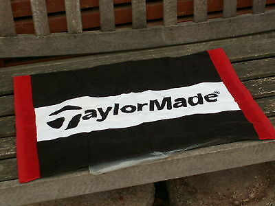 "TaylorMade Golf Towel Red/ White And Black 24""x16"" New"