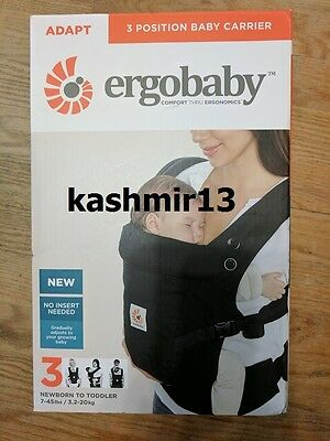 Genuine Ergobaby™ ADAPT 3-Position Baby Carrier - Onyx Black - Brand New in Box