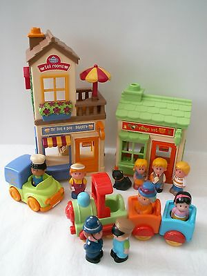 Elc Happyland Bakers/cafe,vet,train,figures.great Play Value.