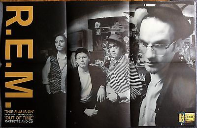 R.E.M. The Film Is On / Out Of Time RARE promo poster '91