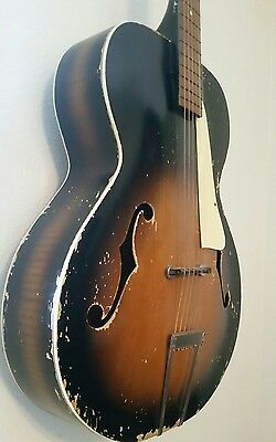 Silvertone archtop acoustic guitar - nice Mojo  Kay vintage