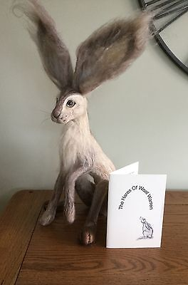 "OOAK Needle Felted Hare "" Caramel"" by The Hares of Wool Warren"