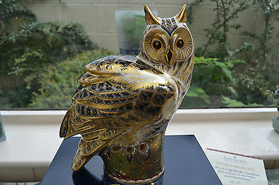 "Royal Crown Derby Paperweight Prestige ""LONG EARED OWL""  L Edition 300  1st Qual"