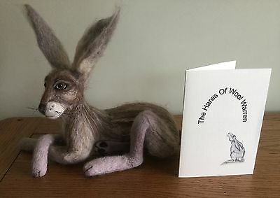"OOAK Needle Felted Hare "" Pipkin "" by The Hares of Wool Warren"