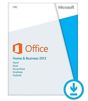 MICROSOFT OFFICE HOME AND BUSINESS 2013 Product Key Card+DVD 1 PC BRAND