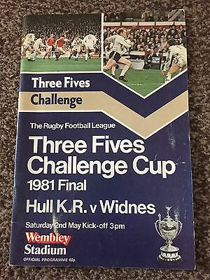 Rugby League Challenge Cup Final Programme 1981 Hull KR V Widnes