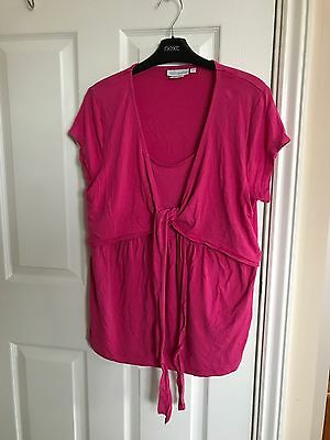 Jojo Nursing Wrap Top Short Sleeve Pink Size L Large Preloved