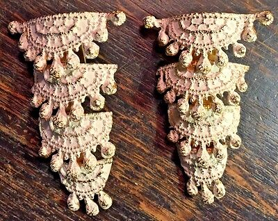 Vintage Mosell Clip On Earrings Four Tiers Signed