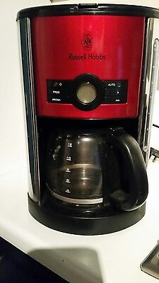 Red Russell Hobbs coffee maker