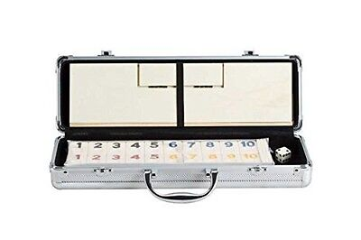 CHH Deluxe Rummy W/WDN Racks in Aluminum Case 5017AL Rummy Set NEW