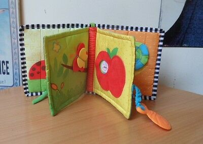 Tiny Love Fabric First Book With Plastic Cot/pram Attachment