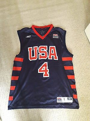 Reebok Vintage Team Usa Basketball Top (Iverson) Size Large
