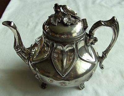 Old Victorian Sheffield Silver Plated Teapot Philip Ashberry & Sons C.1860