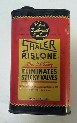 "Rare Canadian (Toronto) ""shaler Rislone The Oil Additive"" 16 Oz. Empty Oil Can"