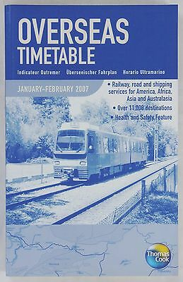 Cook - Overseas Timetable Railway Road Shipping - January February 2007