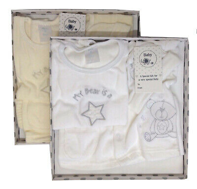 Newborn Baby Boy Girl Christening Velour 4 PC Outfit Gift Set Coat 0-3 Months