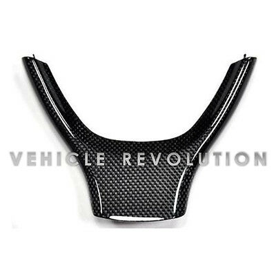 Bmw 5 Series F07 F10 F11 New Black Genuine Carbon Fibre Steering Wheel Trim