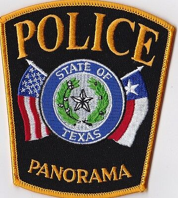 Panorama Police Patch Texas TX NEW!