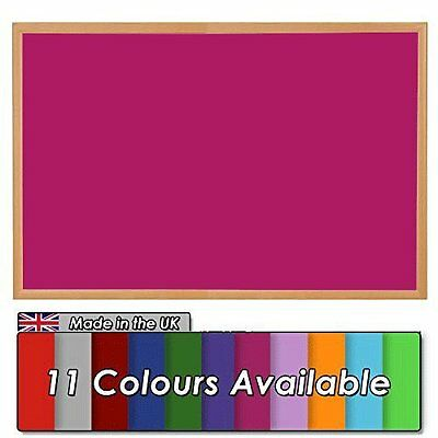 Wonderwall Eco-Friendly Noticeboard 90x60cm Wooden Oak effect frame, 11 Colours