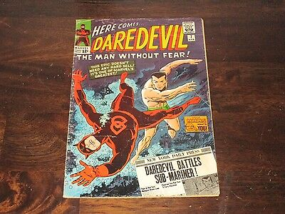Daredevil #7 Silver Age 1St Red Costume Missing 14Th Page Does Not Affect Story