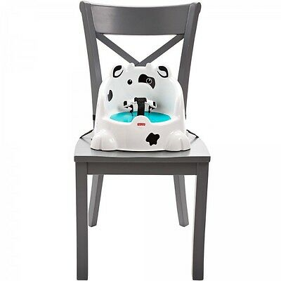 Booster Seat Dining Toddlers Chair  Table Portable Cow  Easy Clean Baby  New
