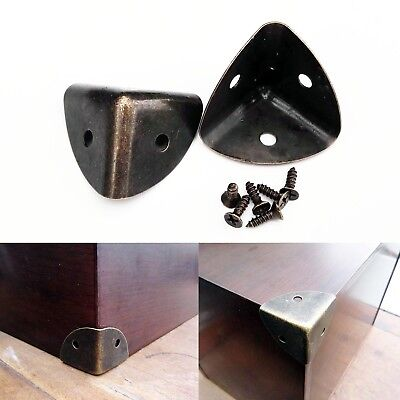 12pcs Thick Metal Jewelry Chest Wine Box Wood Case Trunk Table Corner Protector