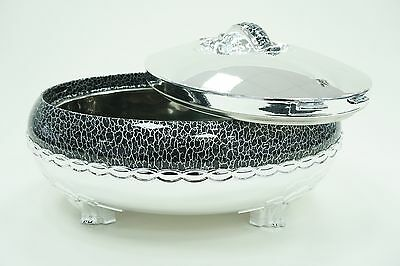Large Hot Pot Food Warmer Storage Insulated Casserole Black And Silver 6L