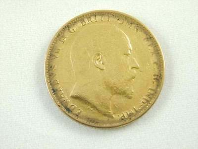 Gold Full Sovereign Antique Edward Vii Minted 1906 Melbourne