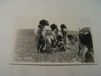 TOP8207 - Postcard - Native Chiefs, South Africa 1927