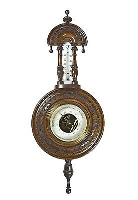 Antique Carved Barometer / Thermometer, Dutch / German.