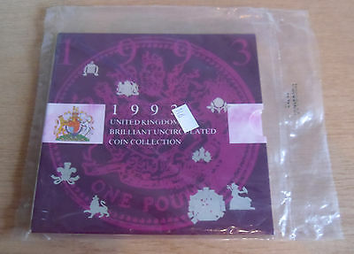 Royal Mint 1993 UK BUC Coin Collection Set Pack Includes EEC 50p