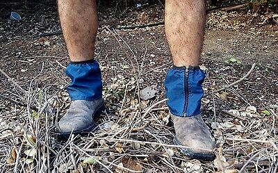 Outdoor Gadget Blue Gaiters Shose Socks Legs Accessory Worker Traveler Gear