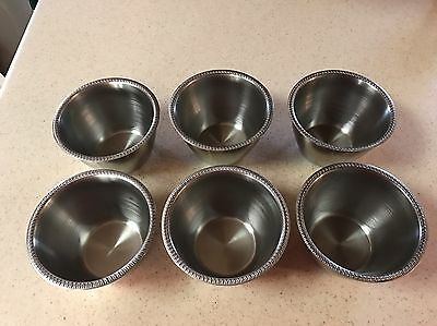 LOT 6 Vollrath 8 OZ. Stainless Steel Condiment Sauce Cups #47601