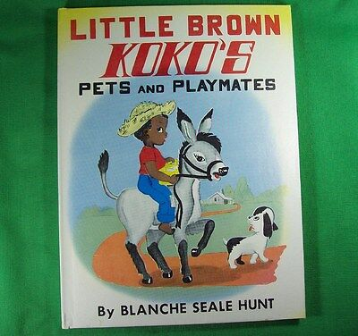 LITTLE BROWN KOKO PETS and PLAYMATES 1959 NEW OLD STOCK Hardcover Book NOS Hunt