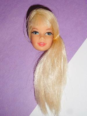 Vintage 1968 Mod Talking Stacey Barbie Doll Head Blonde Hair #1125 JAPAN